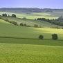 Fields of grass and farmland
