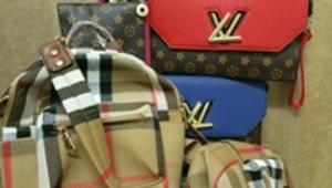 Fake Louis Vuilton and Burberry Bags