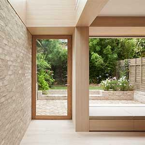 Harvey Road - new extension with garden beyond