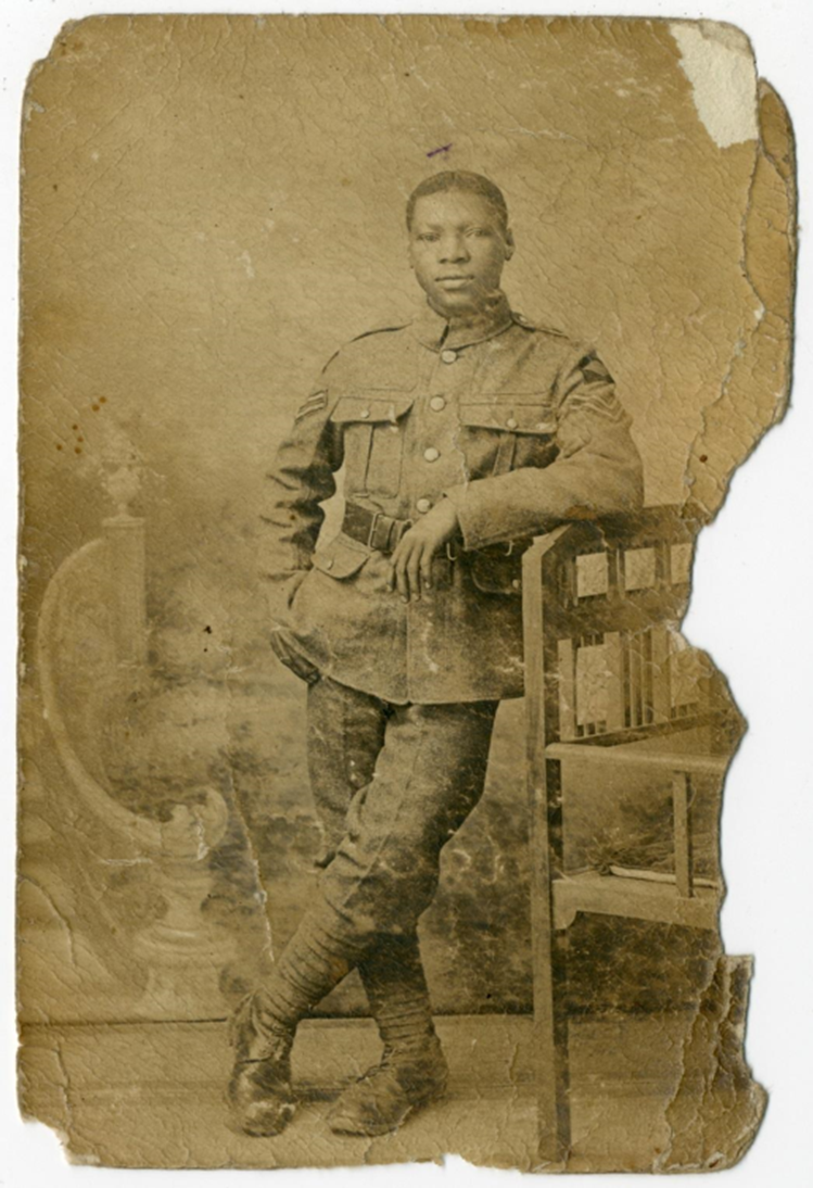 Sepia photograph of an unknown soldier