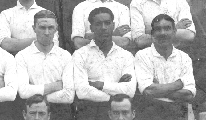Walter Tull with other Spurs players