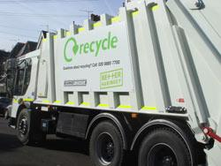 Recycling collection vehicle