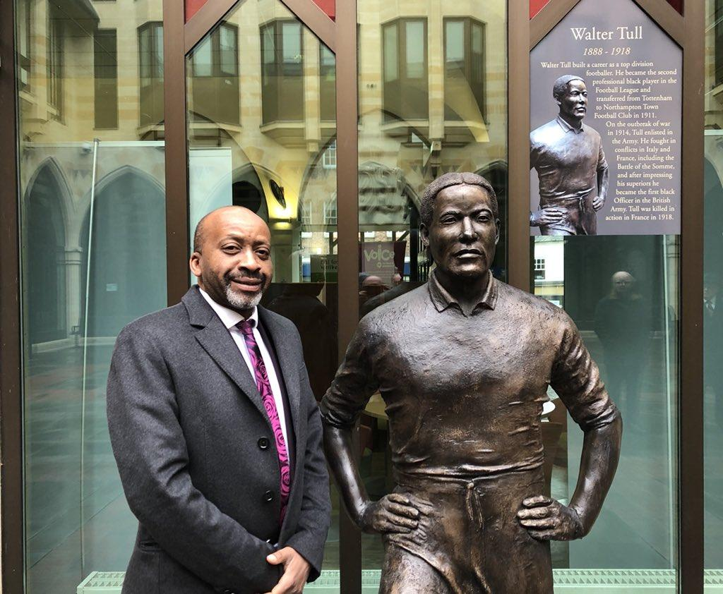 Councillor Joseph Ejiofor and Walter Tull Monument