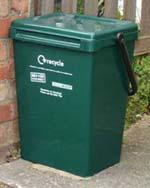 Photo of large green food waste bin outdoors