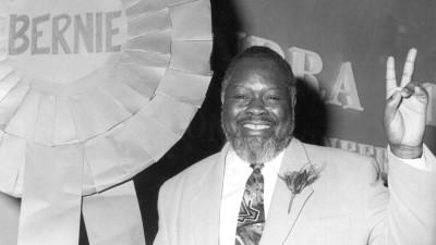 Bernie Grant at an election