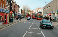 Image of road markings in Wood Green town centre