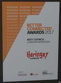 Socitm Award for Haringey Council