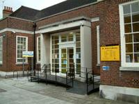 Entrance to St Ann's library