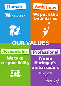 Haringey values poster