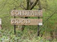 Coldfall wood welcome sign