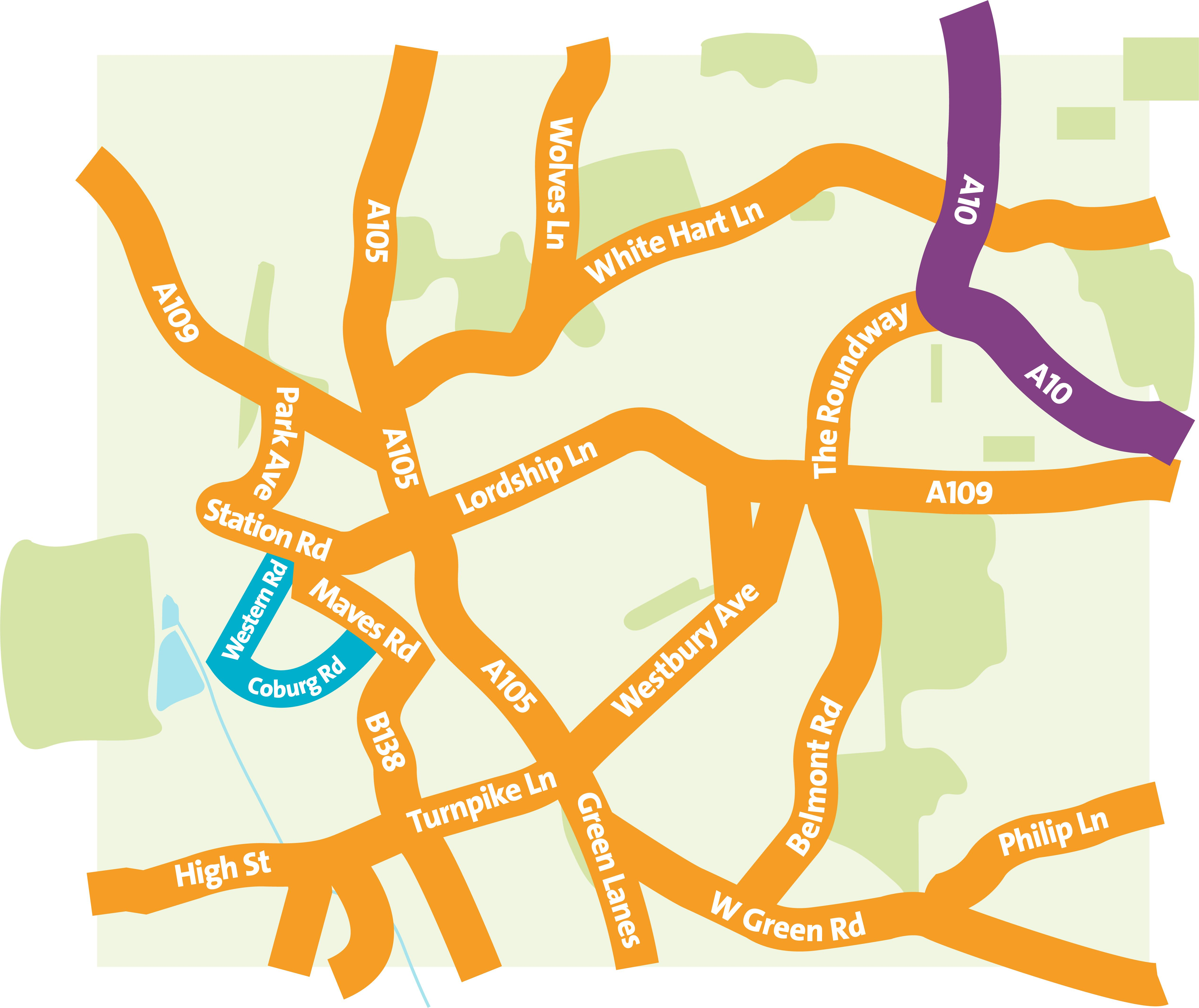 Western Road - Reuse and Recycling Centre Map