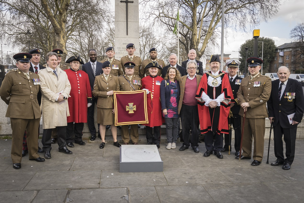 Lt Alfred Herring's Victoria Cross paving stone ceremony