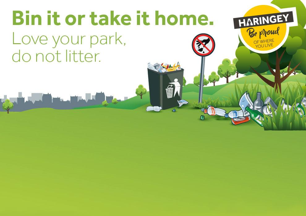 Bin it or take it home. Love your park - do not litter
