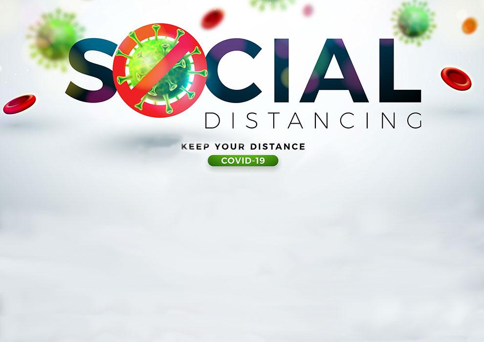 Social distancing - keep your distance. COVID-19