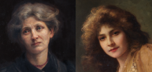 Two female portraits by Beatrice Offor