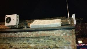 Stoneleigh Road Car Park - Mattress over wall - Before