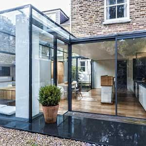 Mayfield Road - photo of the glass extension from the garden