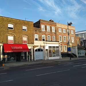 North Tottenham - restored facades and shopfronts to listed and locally listed buildings