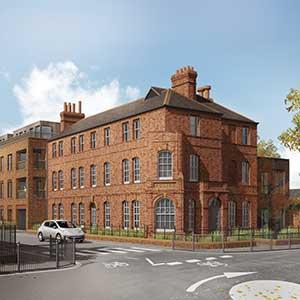 St Ann's Place - artists impression of the restored police station & new flats
