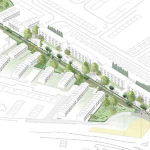 Tottenham Hale Green and Open Spaces Strategy - linear park with enhanced foot and cyclepath along Chesnut Road