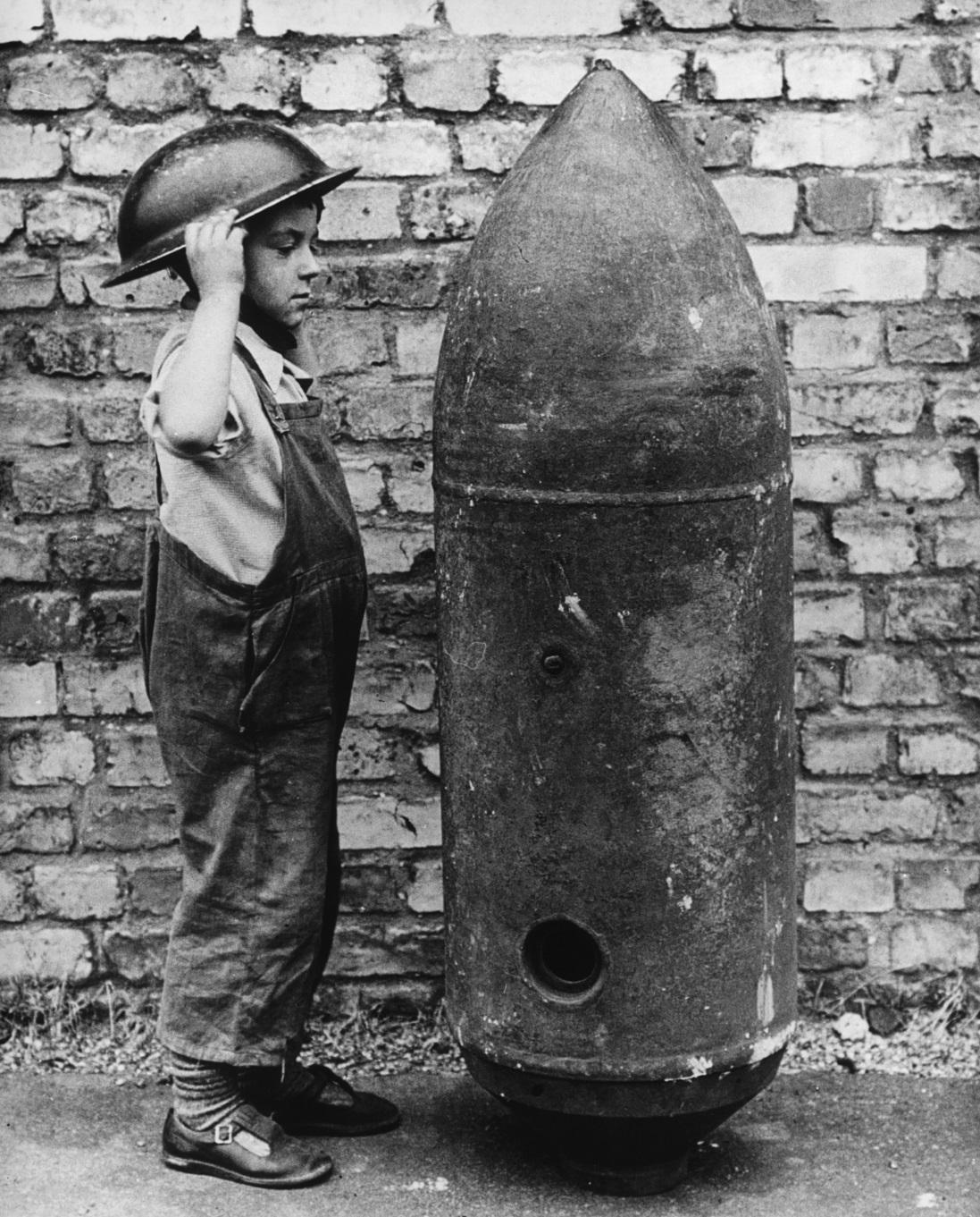 Unexploded bomb that fell on the Gaumont in Wood Green in 1940