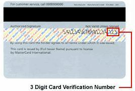 Card verification example