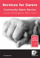 Carers Emergency Leaflet front cover image.