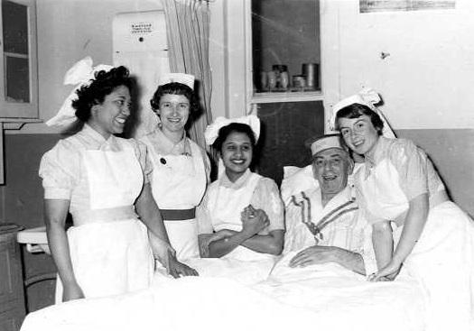 Nurses at a Tottenham hospital 1950s