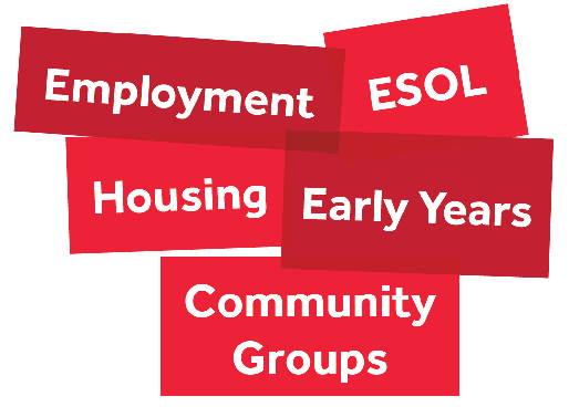 Employment, Housing, Family Learning, ESOL, Community Groups