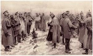 Soldiers at Christmas 1914