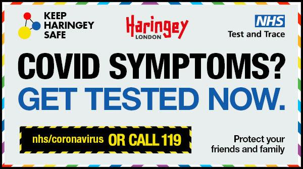 COVID symptoms? Get tested now – web: nhs/coronavirus or call 119