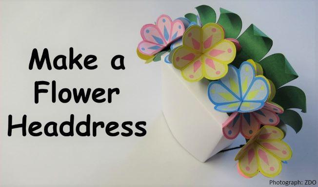 Picture of flower headdress craft