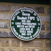 photo of the George Shadbolt plaque