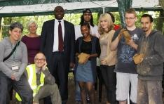 David Lammy MP and some of the participants and supervisors