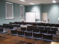 Refurbished Lecture Hall indicating a typical layout for an event