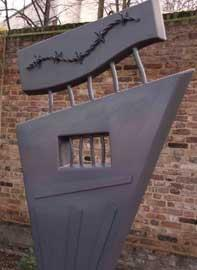 Sculpture by Claudia Holder and Paul Margetts in the Holocaust Memorial Garden, Bruce Castle, Tottenham.