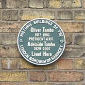 photo of the Oliver Tamb plaque