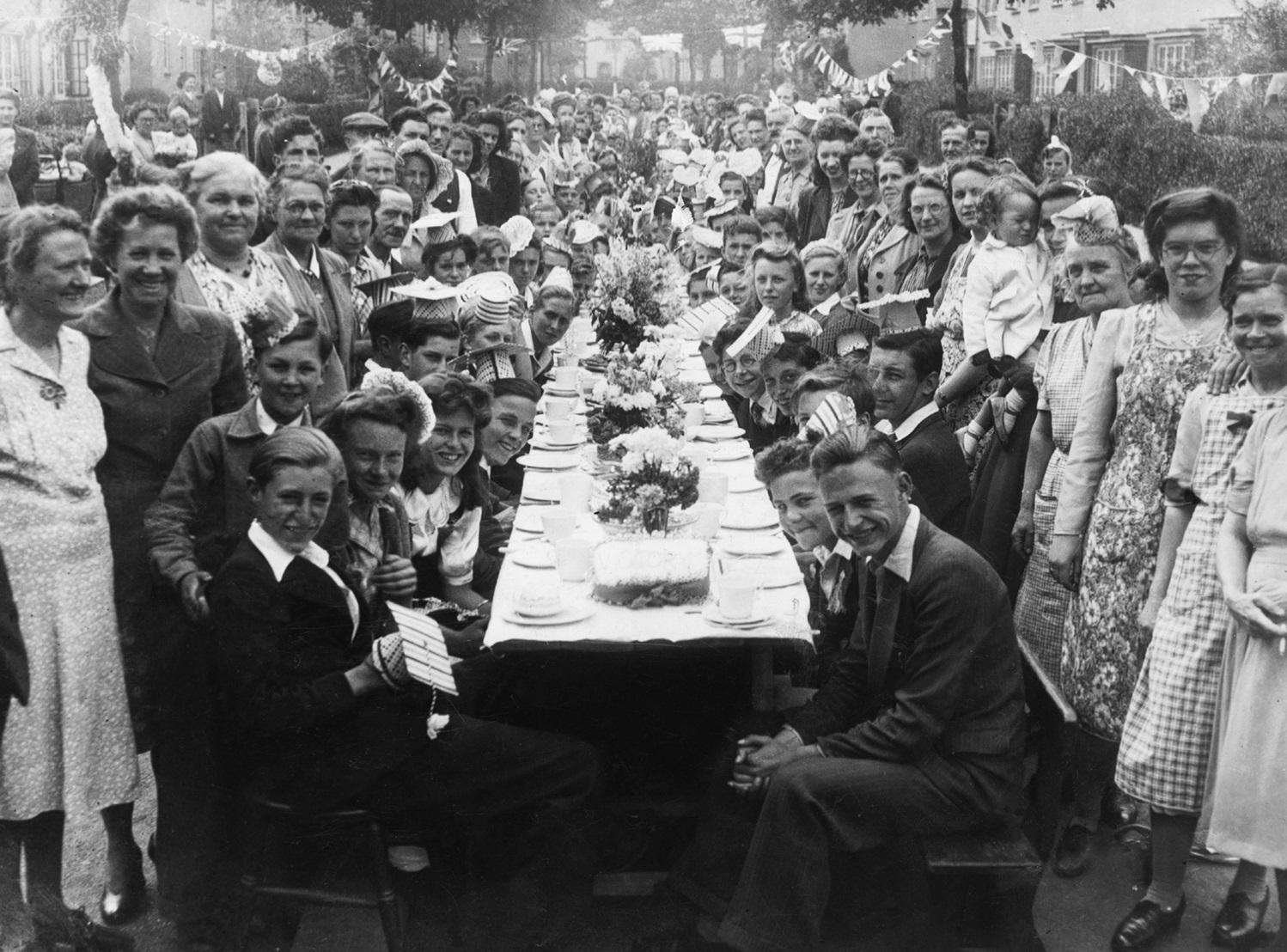 VE Day street party Sutherland Road in Tottenham 1945