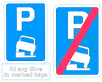 Pavement parking sign