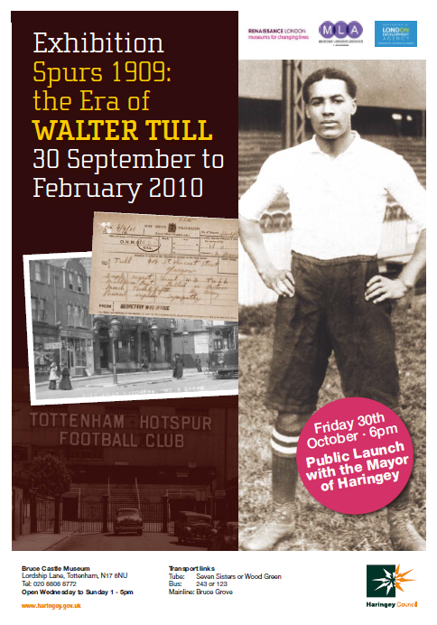 Poster Spurs 1901 the Era of Walter Tull at Bruce Castle Museum