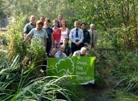 Staff, friends and volunteers celebrate Railway Fields fourth Green Flag win