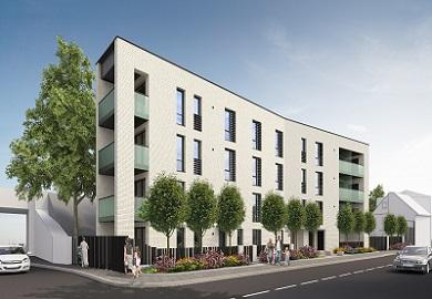 Artists impression of Templeton Road new homes
