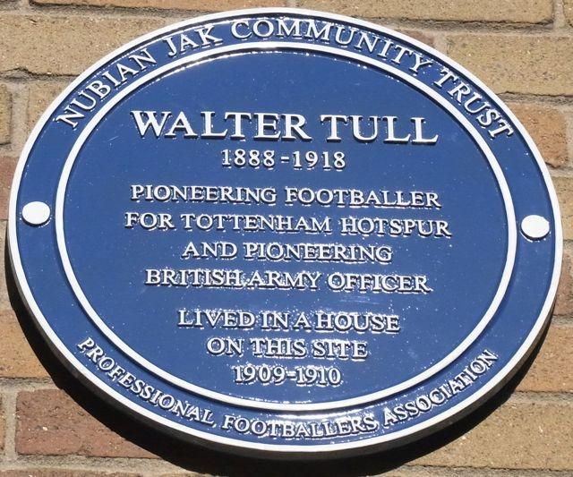 Nubian Jak Blue Plaque to Walter Tull unveiled Oct 2014